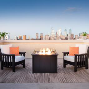Outdoor Chairs and a Fire Table